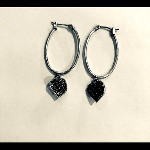 🔴Lucky Brand hoop earrings with hearts